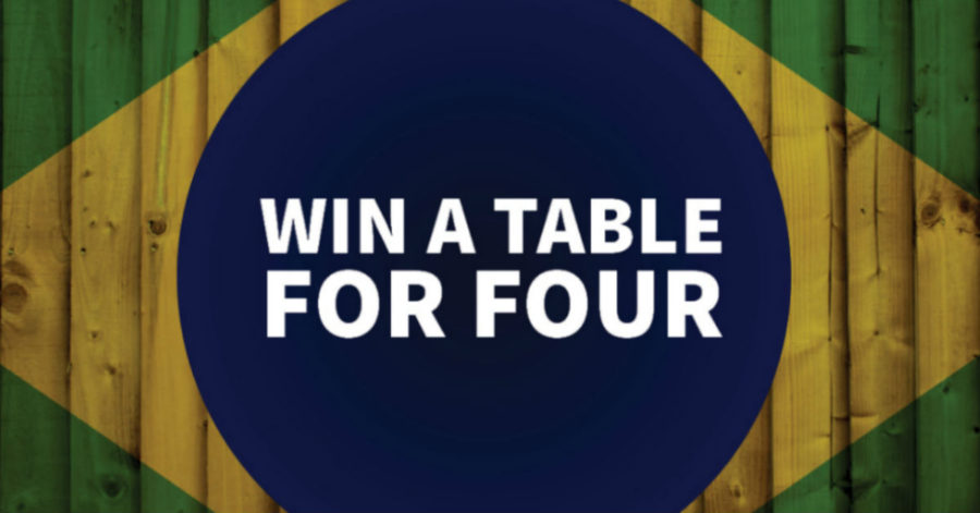 WIN a table for 4 at our Brazilian Rodizio Night next Tuesday!